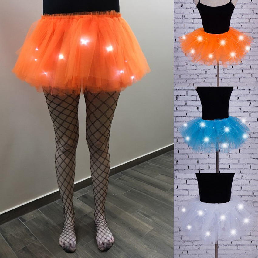 Elastic Adult Kids Girls LED Skirt for Women Belly Dance Costumes Sexy Mini Length Light Up Evening Party Stage Wear