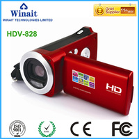 Freeshipping Fixed Fous Portable Digital Camcorder HDV 828 Gift Video Camera Made In China Low Price