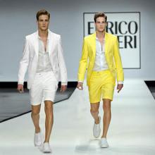 Летние короткие брюки белые льняные мужские костюмы для пляжа