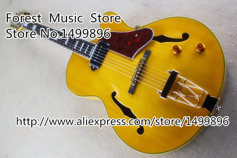Hot Selling Hollow Body ES Electric Guitars China Single Pickup Guitarra Free Shipping yibuy maple 2 single coil pickup 21 22f electric guitars diy builder kit with all accessories