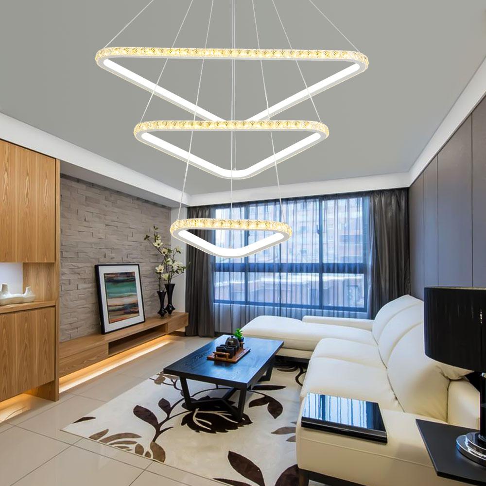 Led kristall kronleuchter beleuchtung glanz hangelampe fernbedienung leuchte decke wohnzimmer - Schlafzimmer beleuchtung led ...