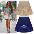 2014 Nova saco Do Vintage de cintura alta plissada chiffon saia grande busto feminino saia 3 cores plus size S-XL 178