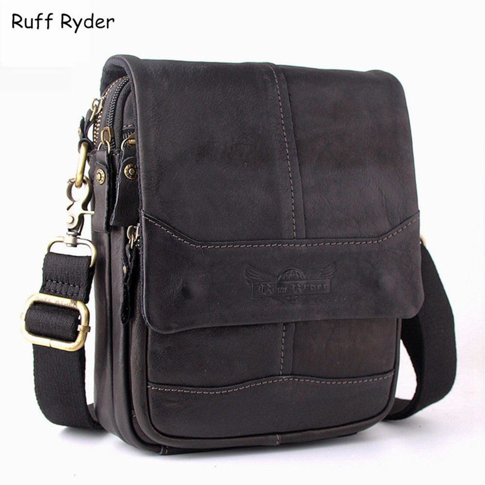 Ruff Ryder Leather Men Waist Bag Genuine Leather Men Bag Small Travel Money Pack Men Messenger Bags Casual Shoulder Cross body brand logo new multifunctional genuine leather waist pack for men women bags travel belt bag money pouch