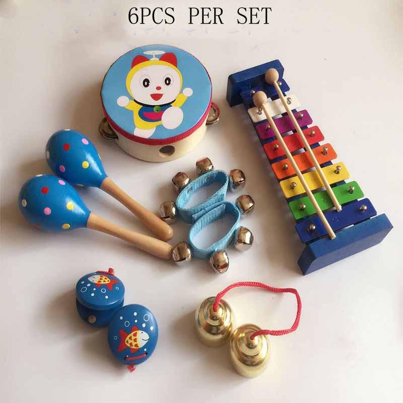 Generous Infant Playing Toy Children Music Girl Or Boy Educational Wooden Toy Instruments Set Montessori And To Have A Long Life. Toy Musical Instrument
