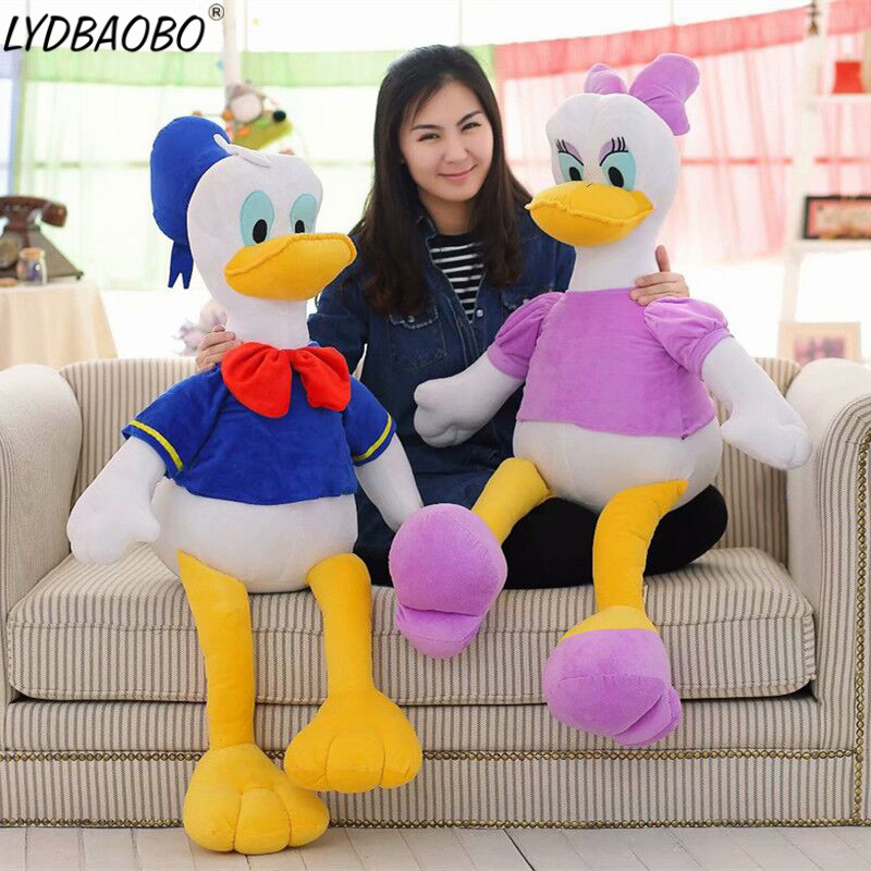 Giant Cartoon Donald Daisy Duck Soft Plush Baby Cute Animal Stuffed Pillow Infant Appease Toy Kid Figure Doll Girl Gift Home Dec duck animal series many chew toy