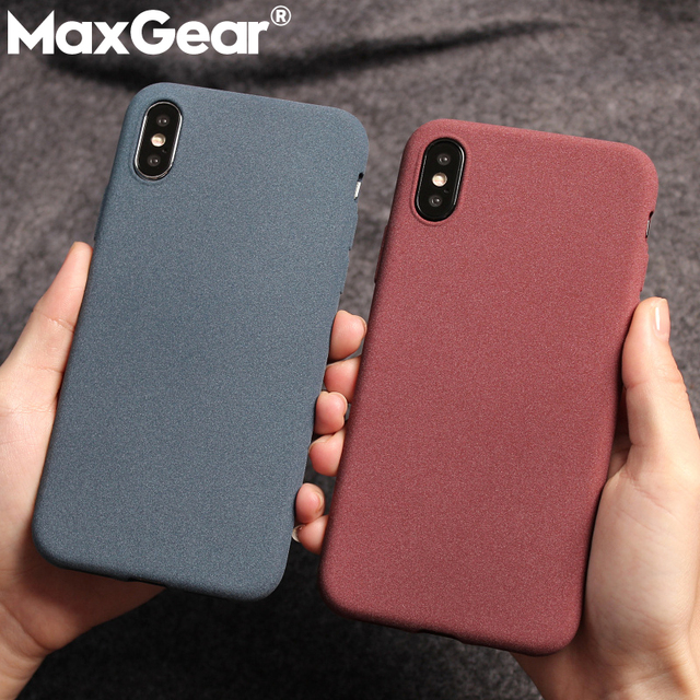 quality design 2faff 61380 US $1.58 20% OFF|MaxGear Frosted Slim Sand Texture TPU Case for iphone XS  Max XR Cover Matte Soft Cases For iphone 6S 7 8 Plus X Shell Phone Case-in  ...