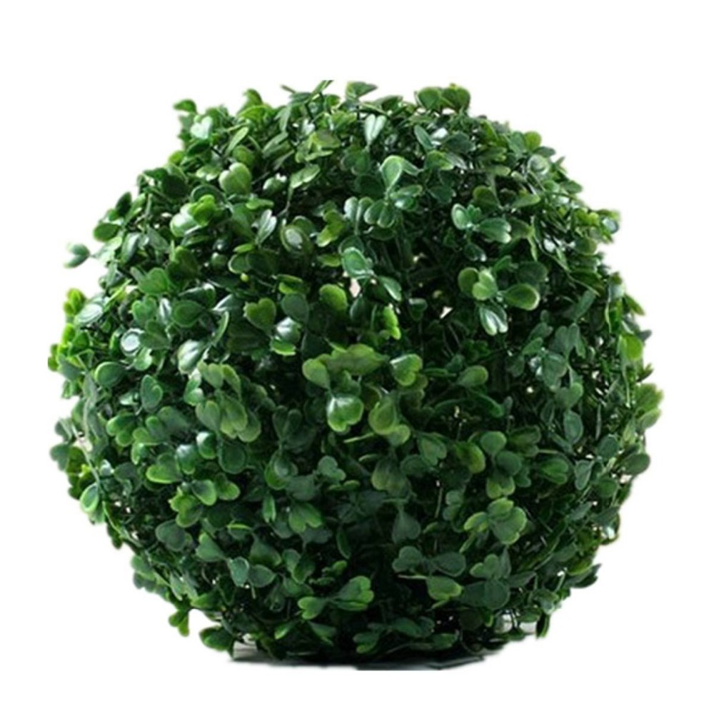 CAMMITEVER 12cm Boutique Artificiale Verde Hanging Grass Plant Ball Ornament Decorazione per feste Garden Home Decor