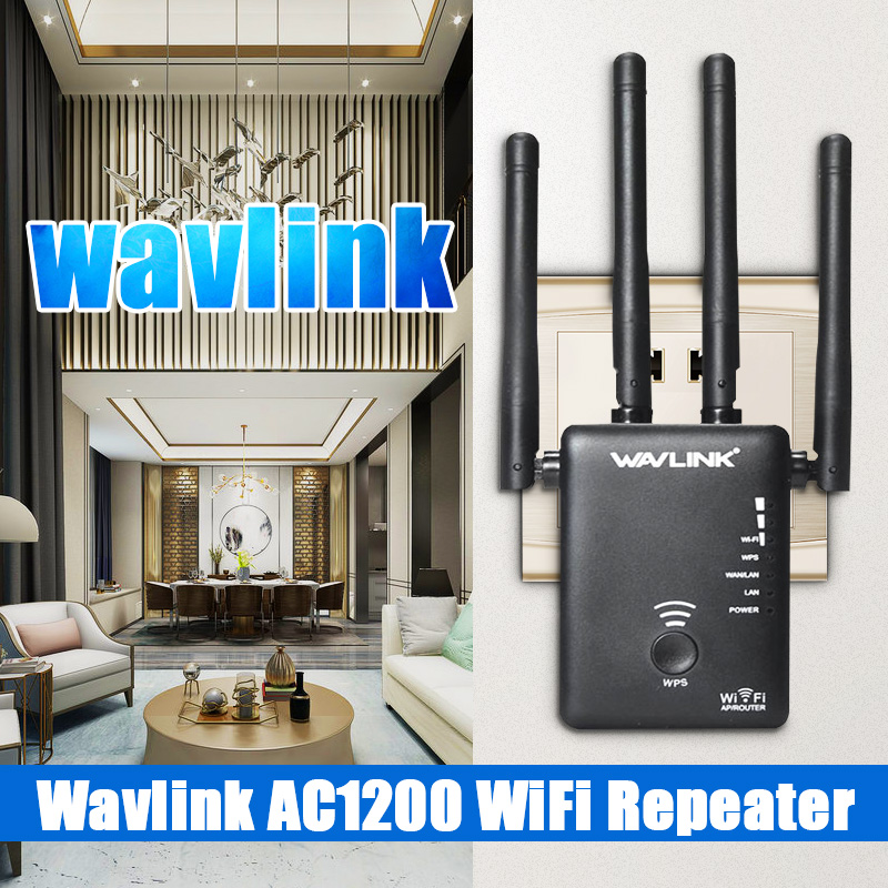 Wavlink AC1200 WIFI Repeater/Router Wireless Range Extender wifi Amplifier with External Antennas wifi Long Range Repeater image