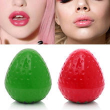1 PC Portable Strawberry Bentuk Lucu Pelembab Lipstik Make Up Kosmetik Bulat Lip Balm Makeup Bergizi Lip Care TSLM1(China)