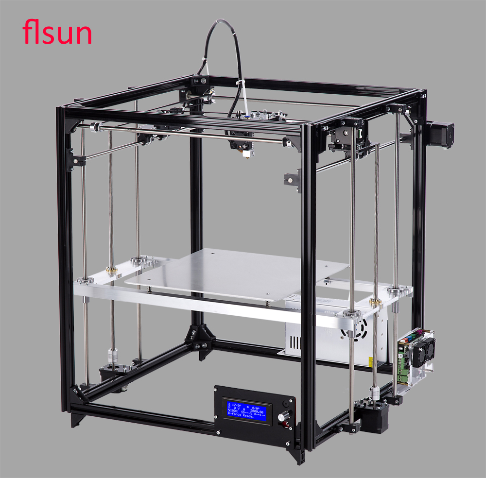 Aluminum Structrue i3 3d Printing Machine Large 3d Printing Size 260*260*350mm Heated Bed With Two Rolls Filament SD Card