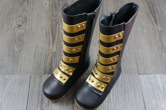 Estilo de moda venda quente botas de inverno meninas botas de neve botas de couro genuíno estilo Coreano crianças quente mocassins bebê sapatos do lado de fora