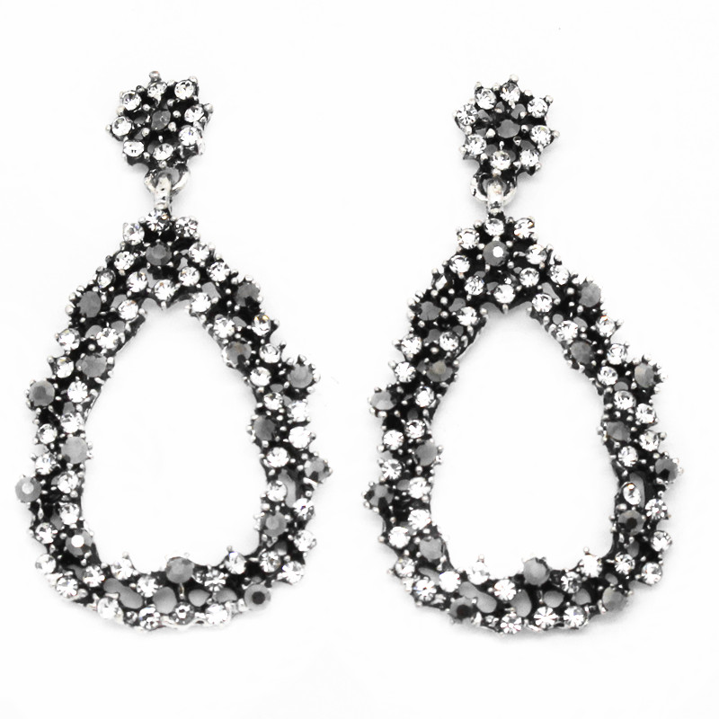 Popular Earrings For WomenFull Crystal Beaded Hoop Earring Women Jewelry 2015