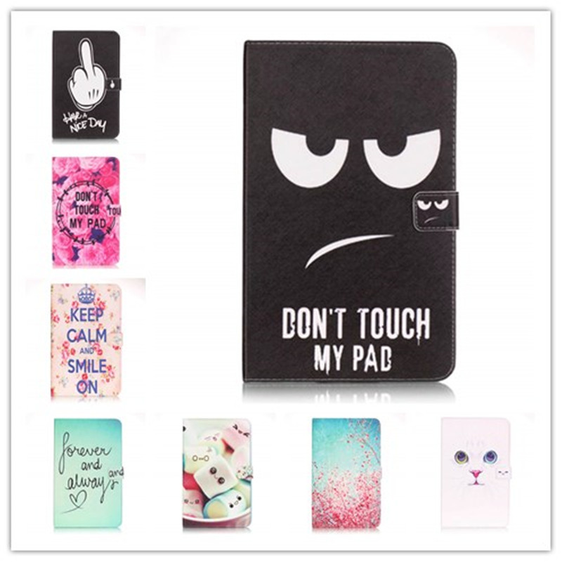 Flip Cover For Samsung Galaxy Tab A 10.1 2016 T585 T580 SM-T580 T580N Tablet cases print Smart Cover shell skin