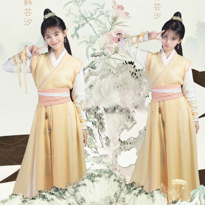 GZTM Ju JingYi Actress 2 Designs Sword Lady Costume for Newest TV Play  Legend of YunXi Fairy Costume Hanfu Drama Costume