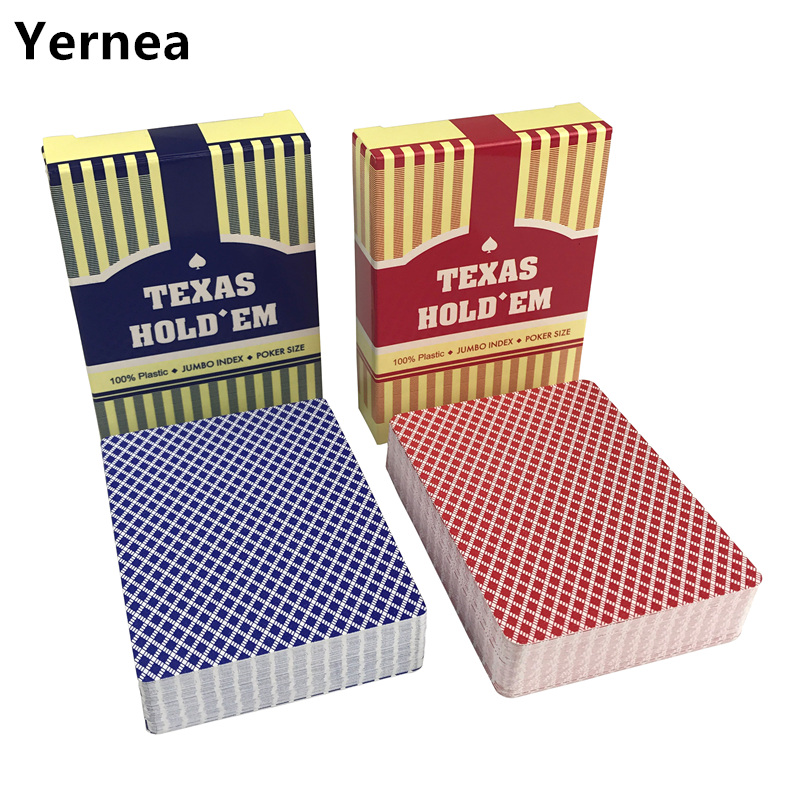 2 Sets/Lot Baccarat Texas Holdem Plastic Playing Cards Waterproof wear-resistant Scrub Poker Cards games 2.48*3.46 inch Yernea