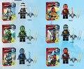 Decool ninjagoes lote figuras kai jay cole zane nya lloyd con hoja de djinn mini ladrillos juguetes lepin compatible