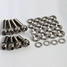 Best price Bike Bicycle Titanium Ti Bolts Kit for Elixir, Code, Juicy Disc Brake Screws, M6 x 20mm , M6 x 29mm washers for caliper mount