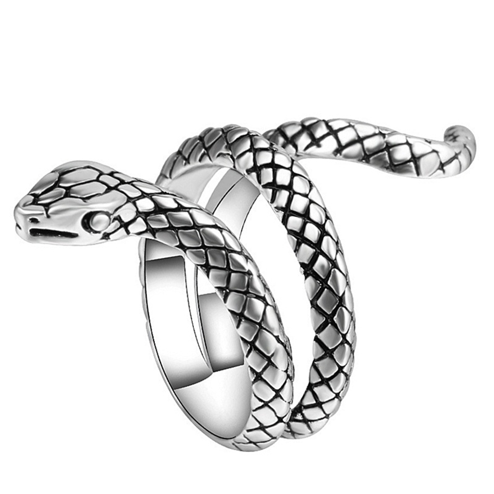Fashion Punk Cobra Snake Shape Alloy Finger Ring Men Statement Jewelry Gift