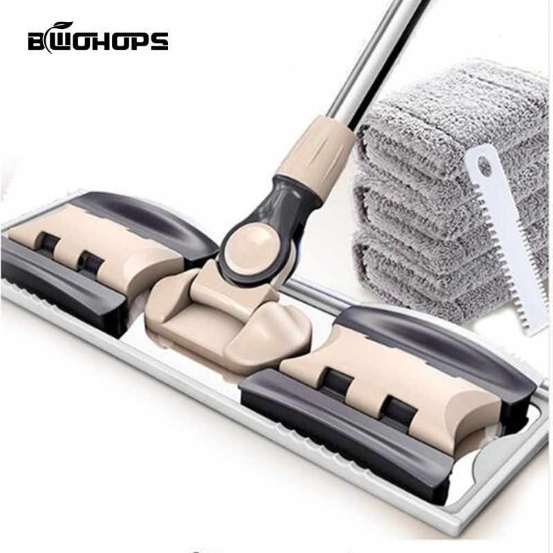 BWOHOPS Mop Plano Mop Limpeza do Chão Para Balde Poeira Vassoura Rotativa Pincelar Magia & Easy & Microfibra Fibra Superfina Swabs