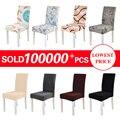Funda Cubierta de la silla elástica cubierta de asiento de comedor para banquete boda restaurante Hotel Anti-sucio removible housse de chaise