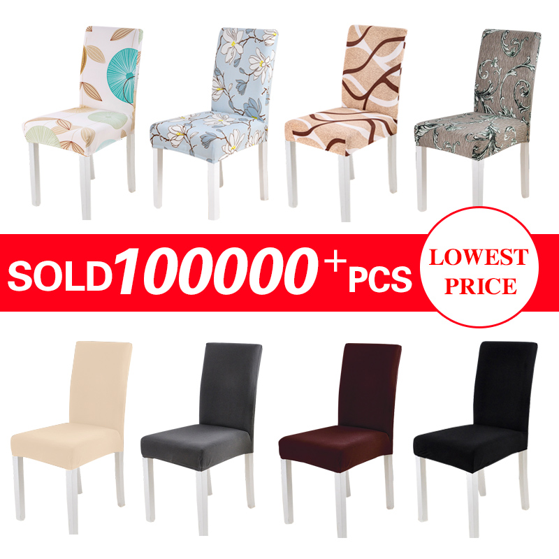 Spandex Chair Cover Stretch Elastisk Dining Seat Cover til Banket Bryllup Restaurant Hotel Anti-dirty Removable housse de chaise
