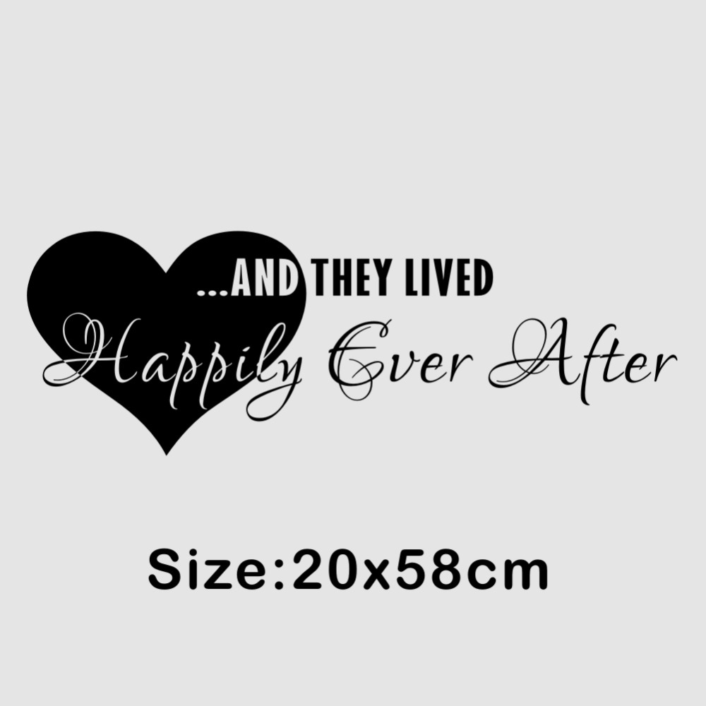 Love Quotes Wall Stickers They Lived Happily Ever After Wall Decal