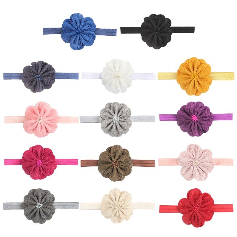 Baby Headband Crown Flower Bows Haarband Baby Girl Headbands Newborn Hair Accessories Elastic Baby Hair Band Turban