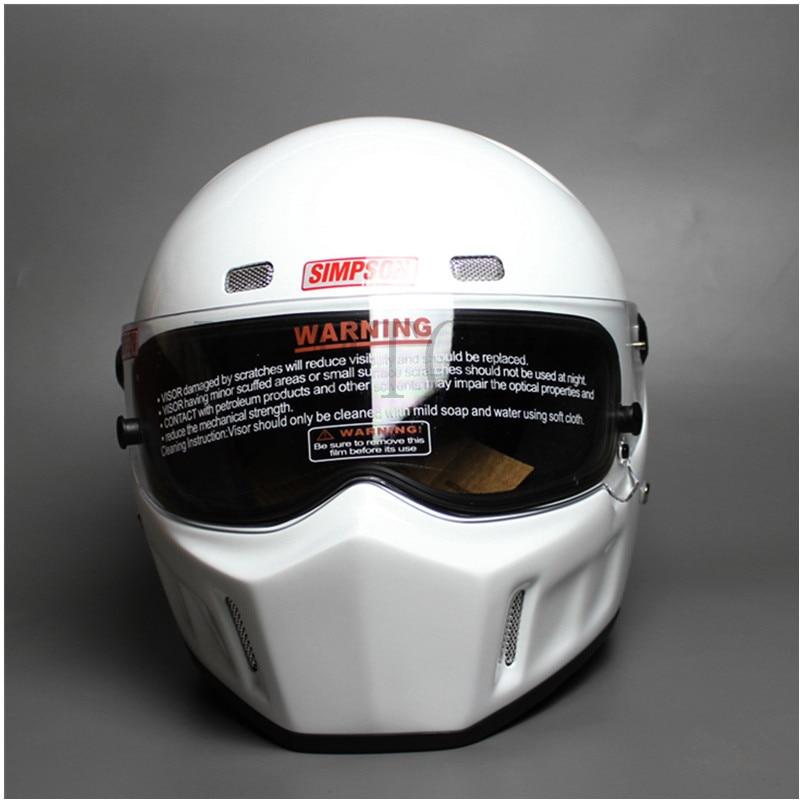 Bricolage CRG ATV-1 personnalisé SIMPSON autocollant Moto course casque intégral F1 capacité De Moto équitation Cascos Motorrad