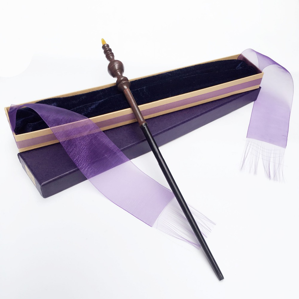 2018 Ny Iron Core Minerva McGonagall av Harry Potter Magical Wand med Elegant Ribbon Presentförpackning Packing