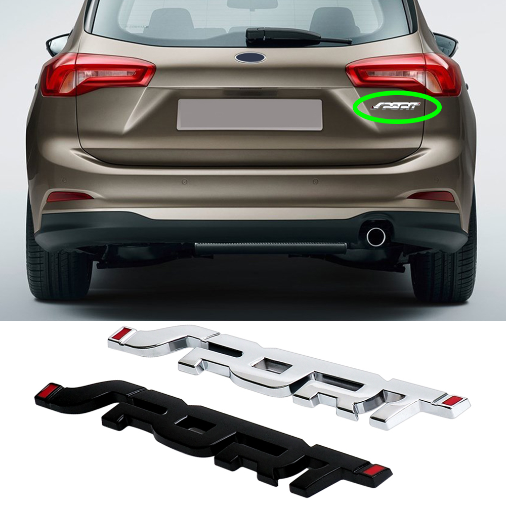 SPORT BLACK ESCAPE EXPLORER EXPEDITION FUSION DOOR FENDER REAR EMBLEM METAL NEW