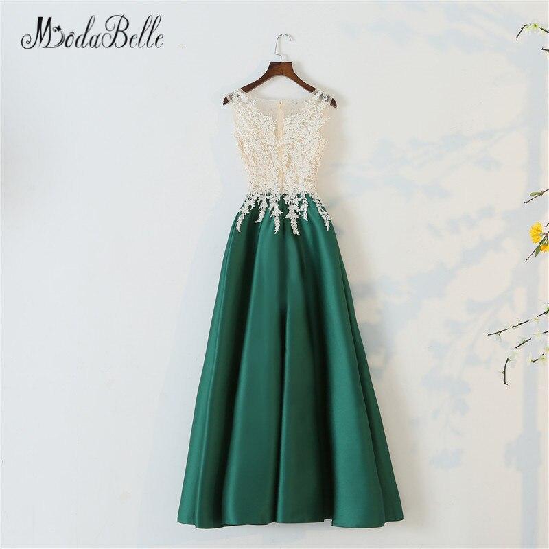 d3d05582e23 Φορέματα για χορό αποφοίτησης modabelle Long Elegant Green Prom Dress  A-Line 2018 Gorgeous Sheer Nude Lace O Neck Long Party Dress Maxi Prom  Evening Gowns