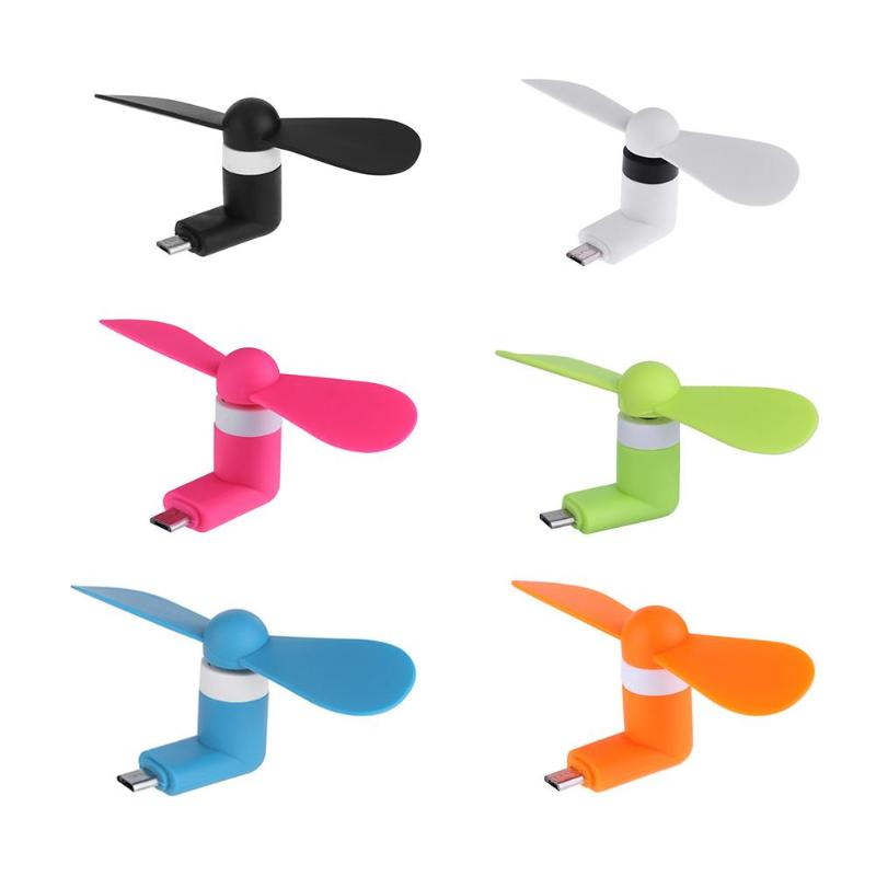 Mini Cool Micro USB Fan Mobile Phone USB Gadget Fans Tester for Android Portable Cool Micro USB Fan Colorful USB Gadgets New Use