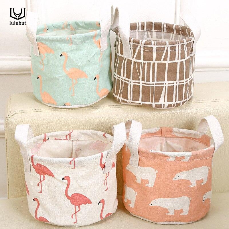 luluhut storage basket for sundries desktop organizer makeup storage box with handle portable basket for toys storage case