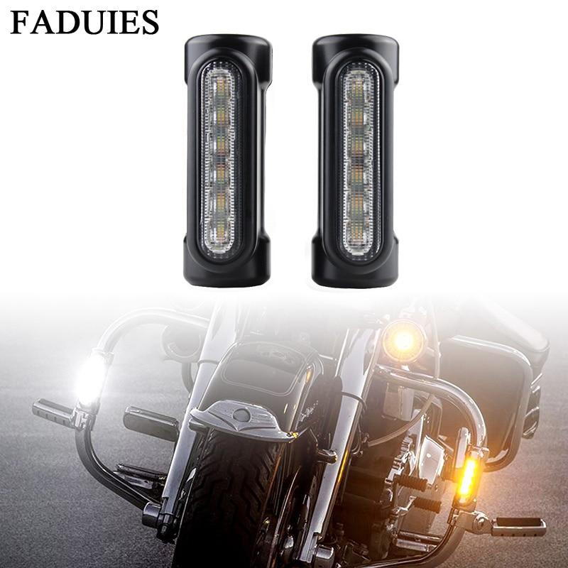 FADUIES Motorcycle Highway Crash Bar Light Switchback Driving Light 12 LED For Harley Touring Models (9)
