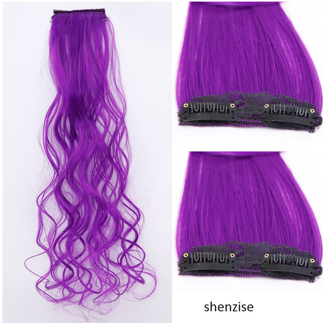 Online Shop Shangke Hair Long Colored 2 Clip In Hair Extensions Red