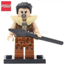 POGO Super Heroes Kraven The Hunter DIY Model Building Block Toys Single Sale PG071 Classic Kids