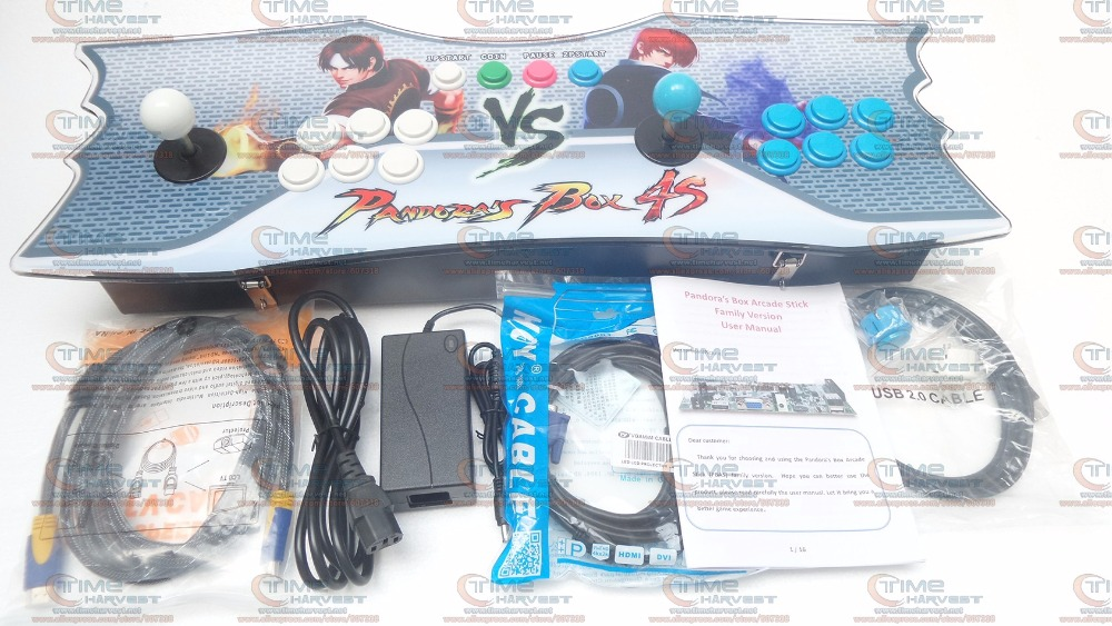 New Arrival Pandora Box 5 2 players arcade console Fight game controls with 4 core CPU, 960 in 1 games, Normal 8 ways joystick pandora box 4s 680 in 1 new arrival arcade family console with vga and hdmi output 680in1 pc ps3 or xbox360