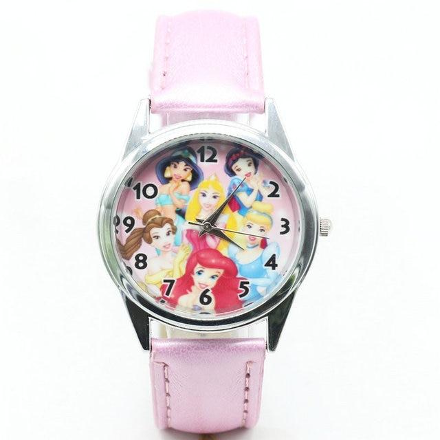 2018 hot selling children cute dial quartz watch Princess Girl Cartoon Birthday