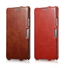 For samsung galaxy note 4 case New genuine leather Vintage Series for samsung note 4 brown red retro cover bags with card holder