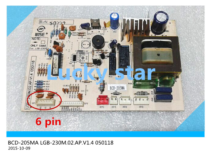 95% new for LG refrigerator computer board circuit board BCD-205MA LGB-230M.02.AP.V1.4 050118driver board good working 95% new for haier refrigerator computer board circuit board 0064000230d bcd 228wbs bcd 228wbsv driver board good working