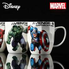 Disney Marvel Super Hero Avengers Justice League Infinity wars 450 ml  hulk Mugs With Cover and Spoon coffee mug ceramic mug mug lefard yellow flower on black 450 ml