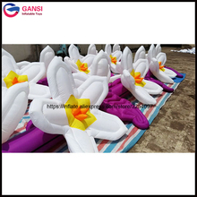 цена на High quality christmas inflatable flower chain decoration with LED factory price giant inflatable flower decoration for party