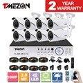 Tmezon 8ch ahd 1080 p dvr 8 pcs câmera 2.0mp 1080 p 2.8-12mm Lente Zoom CCTV Home Security Sistema de Vigilância Visão Nocturna do IR Kit