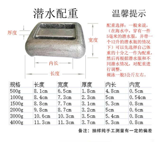 Pure Lead Diving Weight