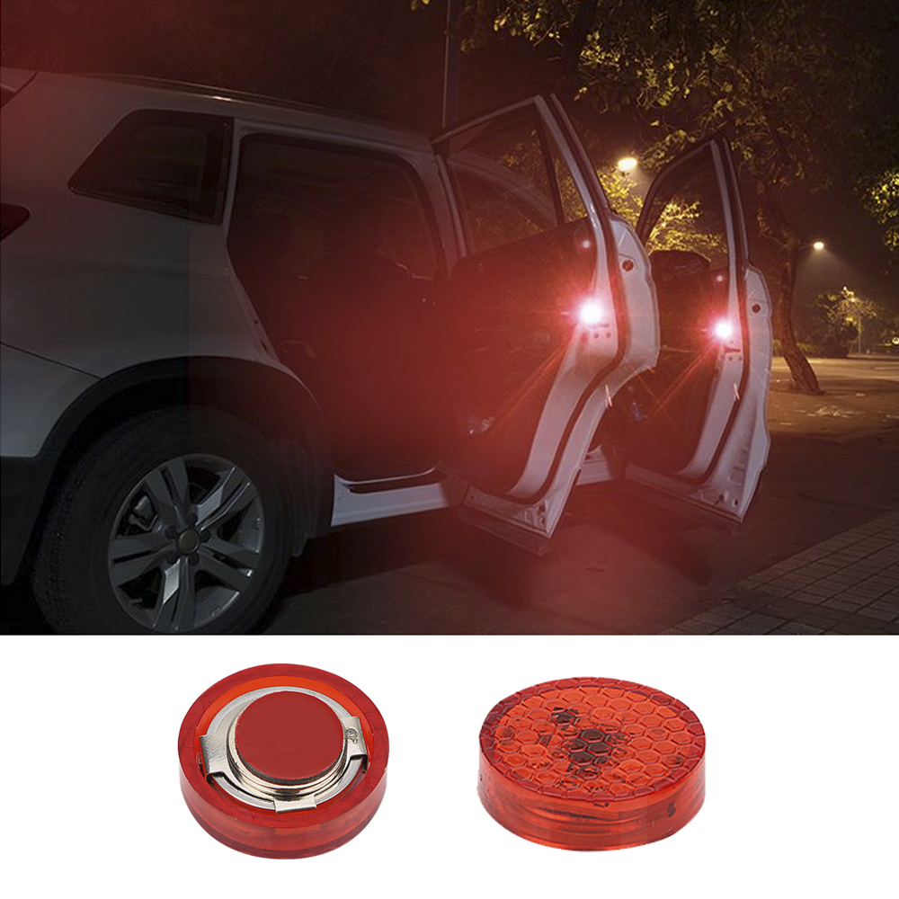 Red Trader-V 4Pcs Universal Open Auto Decals Reflective Warning Strip Tape Sign Stickers Safety Car Door Sticker Anti-Collision Warning Mark
