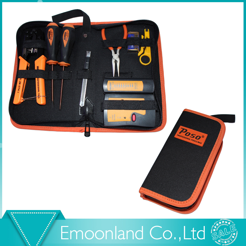 Professional 8 in 1 JK-N08 LAN network tools kit Crimp Crimper Plug Cable Wire Stripper Cutter Pliers screwdriver tool set