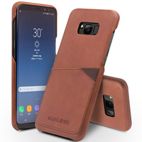 QIALINO 100 Cowhide Genuine Leather Cover For Samsung Galaxy S8 Case Ultra Thin Back Accessory Bag