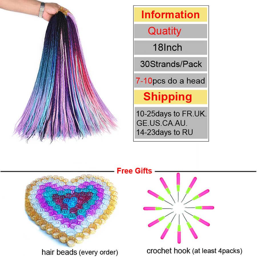 TOMO 24 дюйма 30 корней маленькие вязанные косички волосы Сенегальские накрученные волосы Омбре синтетические цветные плетеные волосы для наращивания крючком волосы