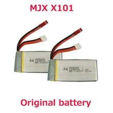 2 Unids Original Batería 7.4 v 1200 mah Batería Para MJX MJX X101 X101/X102H MJX Rc Quadcopter Repuesto parte Envío gratis