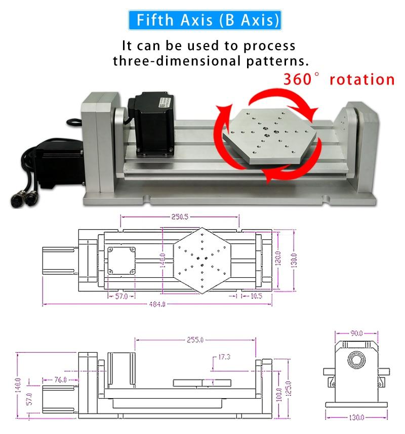 column type cnc 6040 2.2KW metal engraving machine   (6)